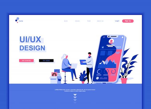 Premium Vector Flat Landing Page Template Of Ux Ui Design