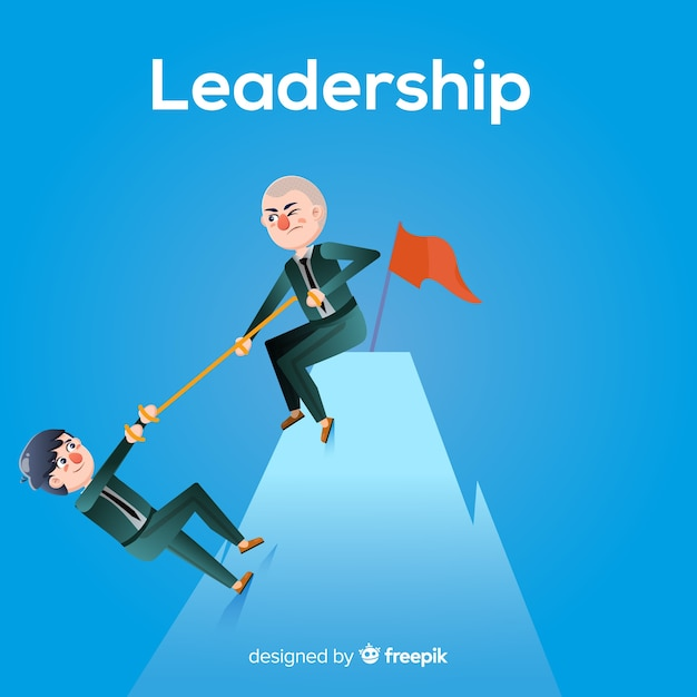 Flat leadership concept Free Vector