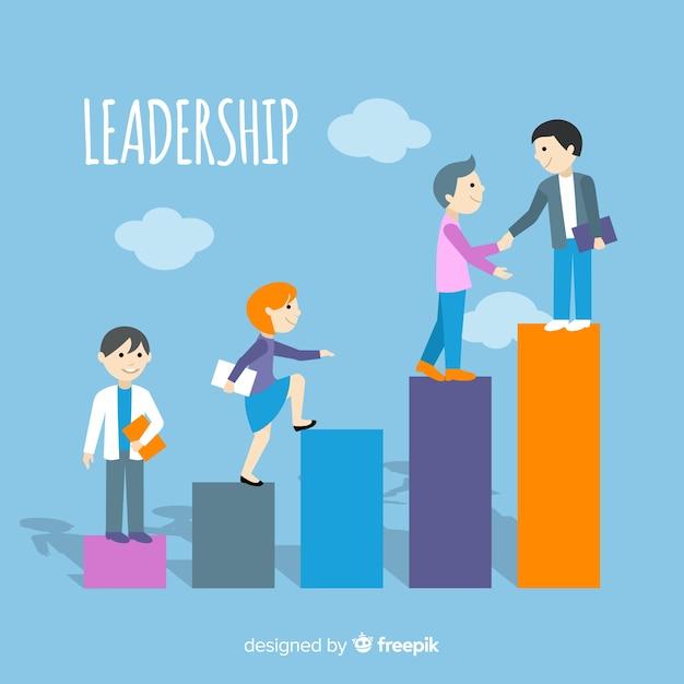 Flat leadership concept Free Vector