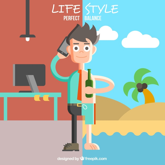 Flat Lifestyle Illustration Vector