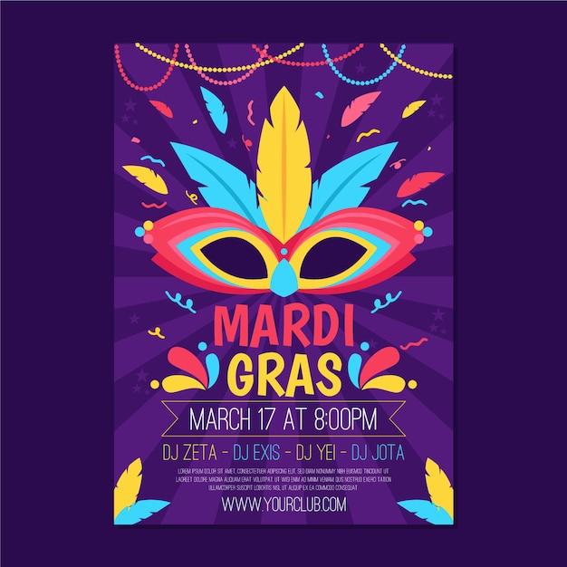 Mardi Gras Flyer Template from image.freepik.com
