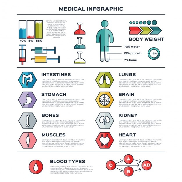 Flat medical infographic