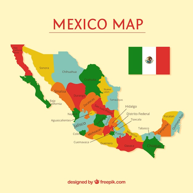 Mexico Map Vectors Photos and PSD files Free Download