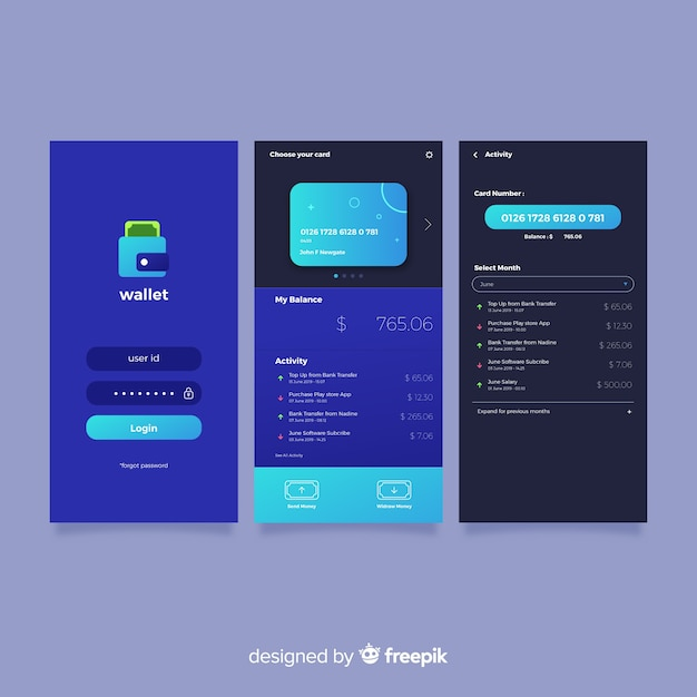 Flat mobile app cover Free Vector