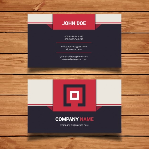 Flat modern business card design vector free download flat modern business card design free vector colourmoves