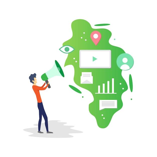 premium vector flat modern digital marketing vector illustration https www freepik com profile preagreement getstarted 6027447