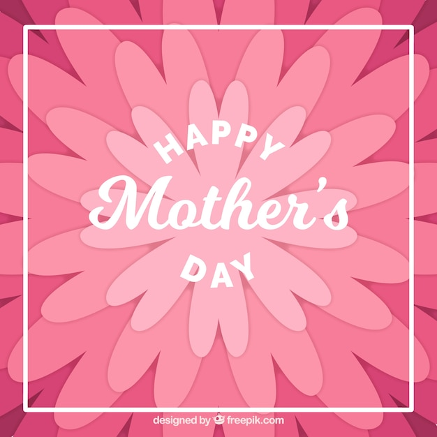 Flat mother\'s day background with flowers in\ purple tones