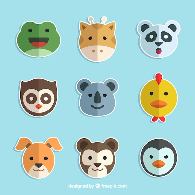 Flat pack of lovely animal stickers