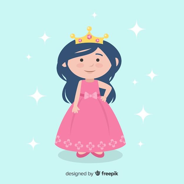 Flat princess background Free Vector