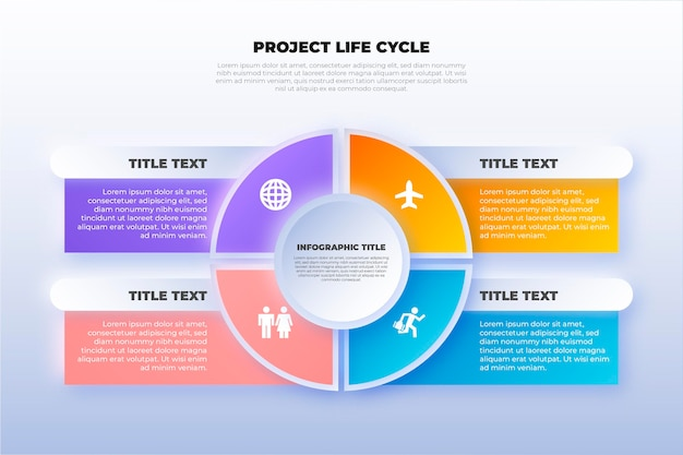 Cerchio di vita del progetto piatto Vettore gratuito