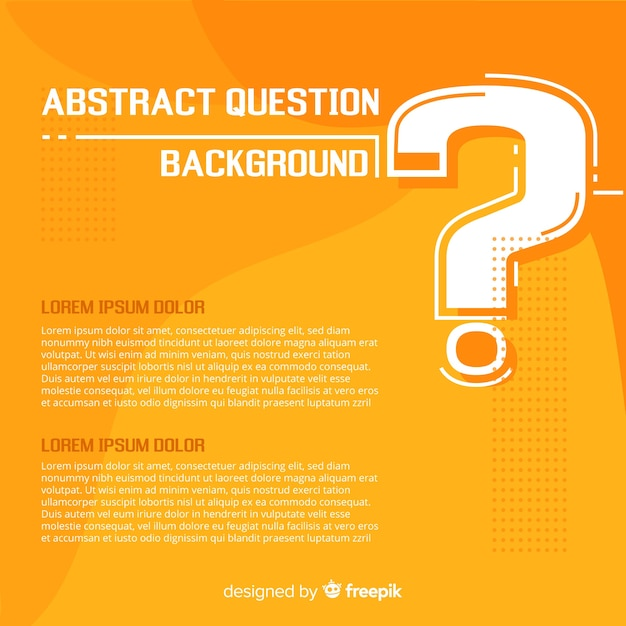 Flat question background template Free Vector