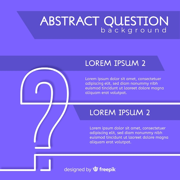 Flat question mark background Free Vector