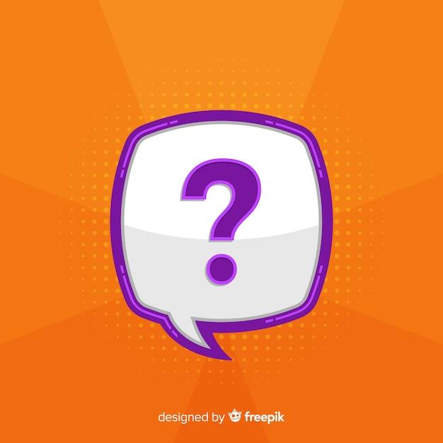 Flat question mark concept Free Vector