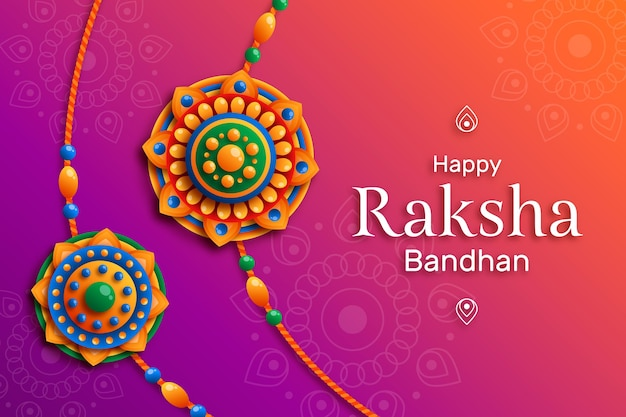 Flat raksha bandhan concept Free Vector