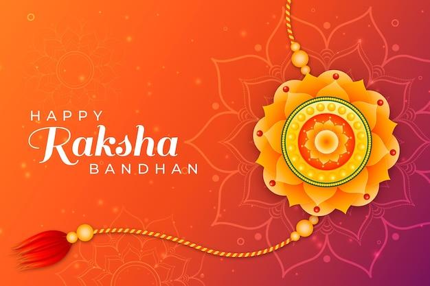 Concetto piatto raksha bandhan Vettore gratuito