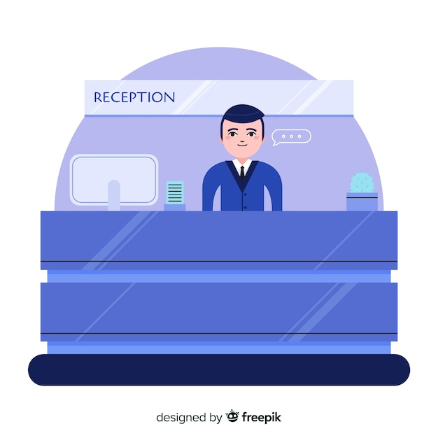 Flat reception background Free Vector
