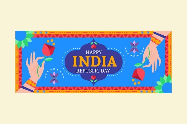 Banner piatto giorno della repubblica Vettore gratuito
