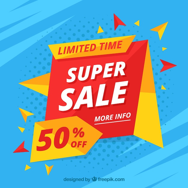 Flat sale background Free Vector