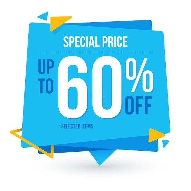 Flat sale paper banner Premium Vector