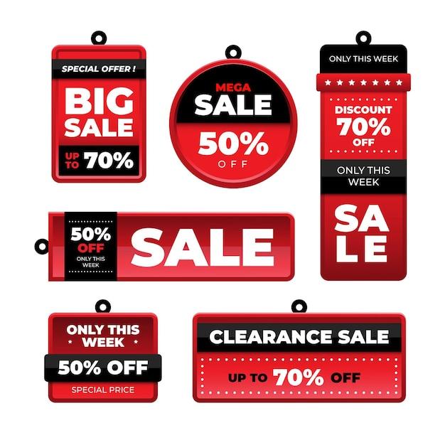 Коллекция плоских продаж Premium векторы