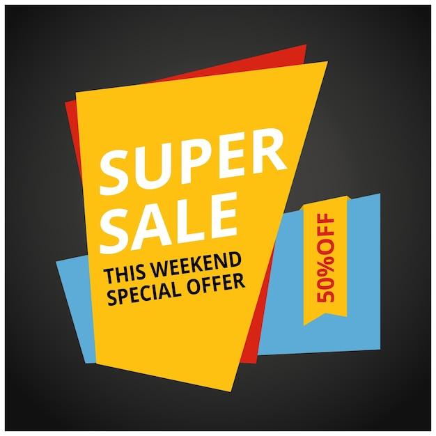 Ограниченное предложение mega sale banner продажа плакатов большие скидки для специальных распродаж 50 off векторная иллюстрация Бесплатные векторы