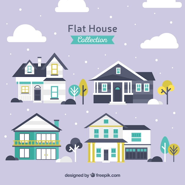 Flat selection of great house facades