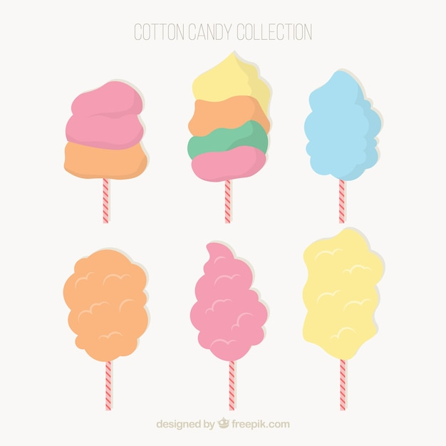 Flat set of cool cotton candy