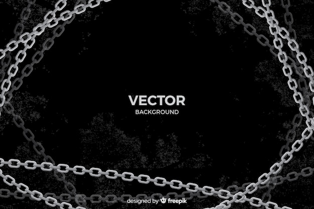 Flat silver chains background Free Vector
