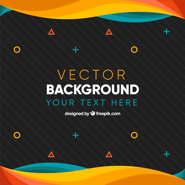 Flat simple background Free Vector