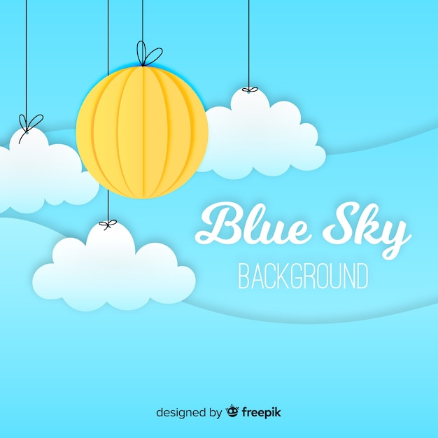 Flat sky background Free Vector