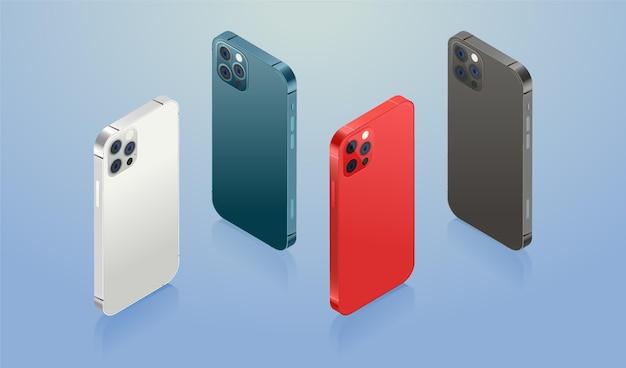 Smartphone piatto nei colori ufficiali Vettore gratuito