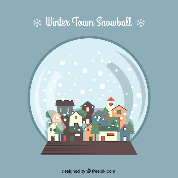 Flat Snow globe Background
