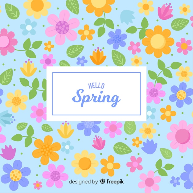 Flat spring background Free Vector