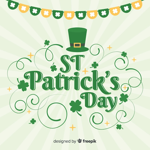 Flat st. patrick's day background Free Vector