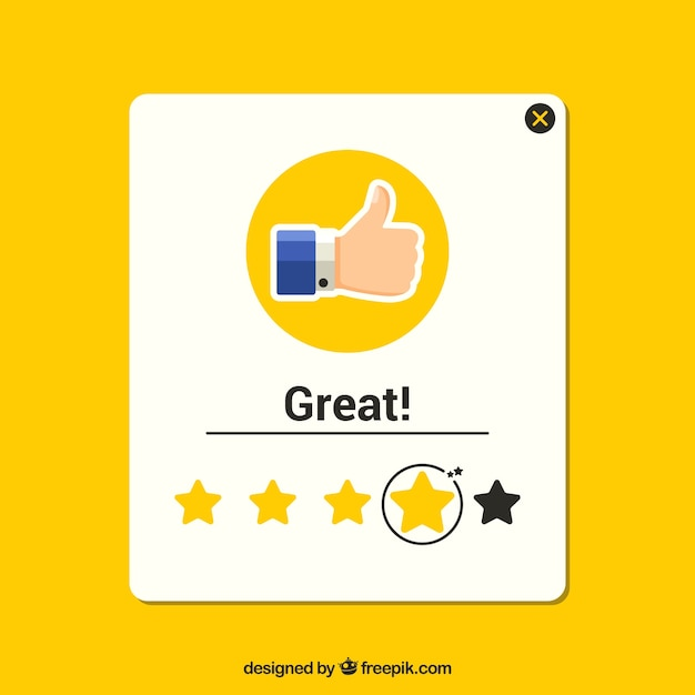 Flat stars rating template Free Vector