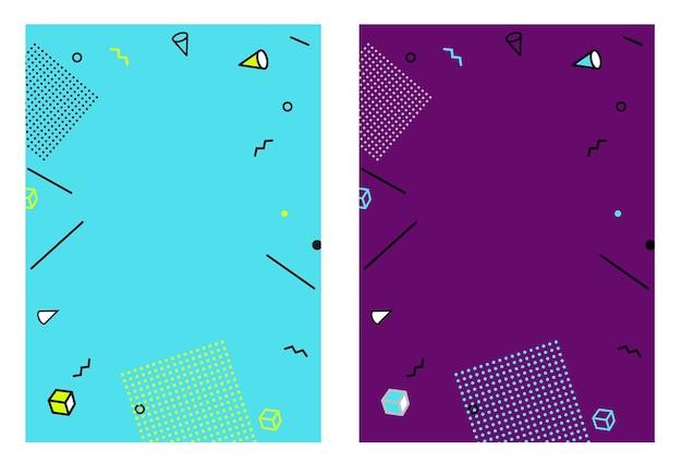 バナー、広告、プラカード、ビルボードのフラットスタイルの抽象的な幾何学的なテンプレート。 Premiumベクター
