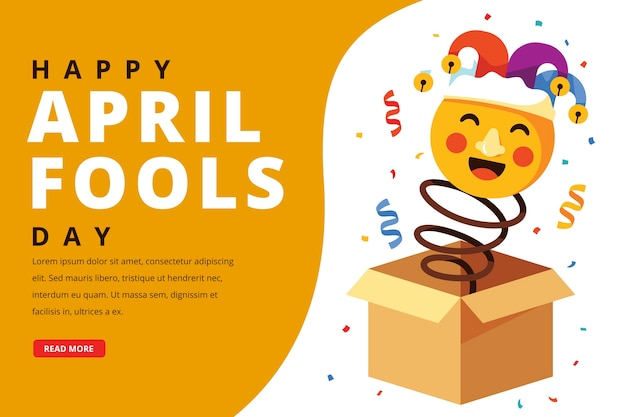Flat style april fools day Free Vector