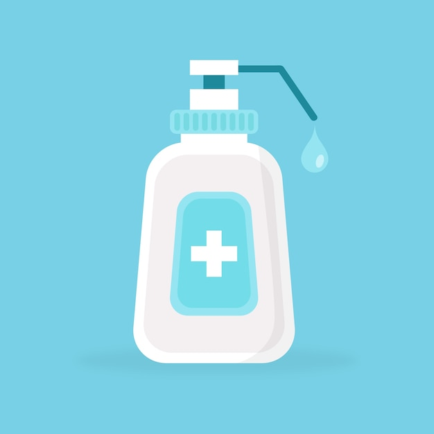 Flat style hand sanitizer Free Vector
