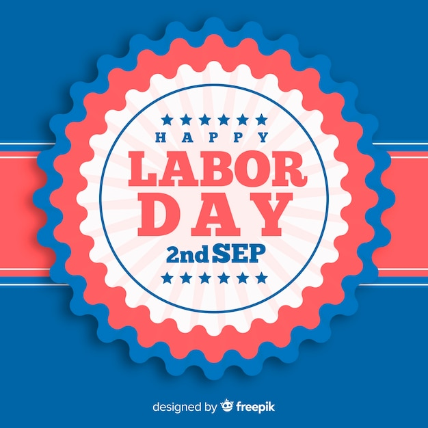 Flat style labor day background Free Vector