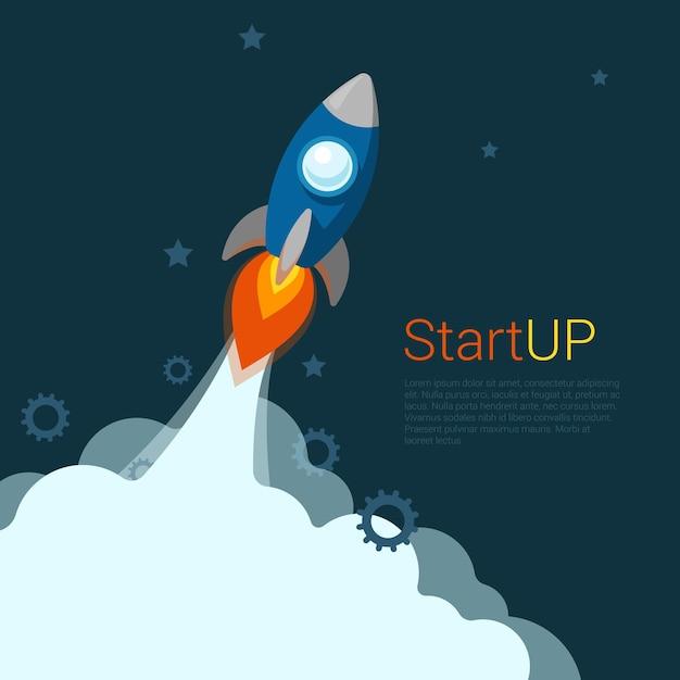 フラットスタイルのウェブサイトスライダーバナースタートアップコンセプトウェブインフォグラフィック Premiumベクター