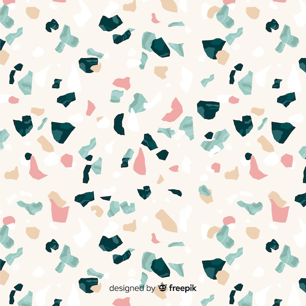 Flat terrazzo floor background Free Vector