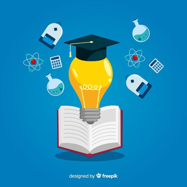 Fondo piatto concetto di università Vettore gratuito