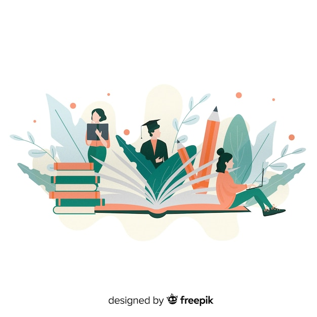Flat university concept Free Vector