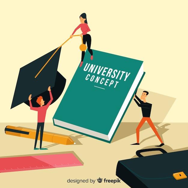 Flat university concept Free Vector