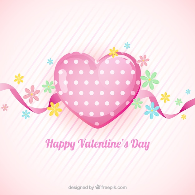 Flat valentine\'s day background