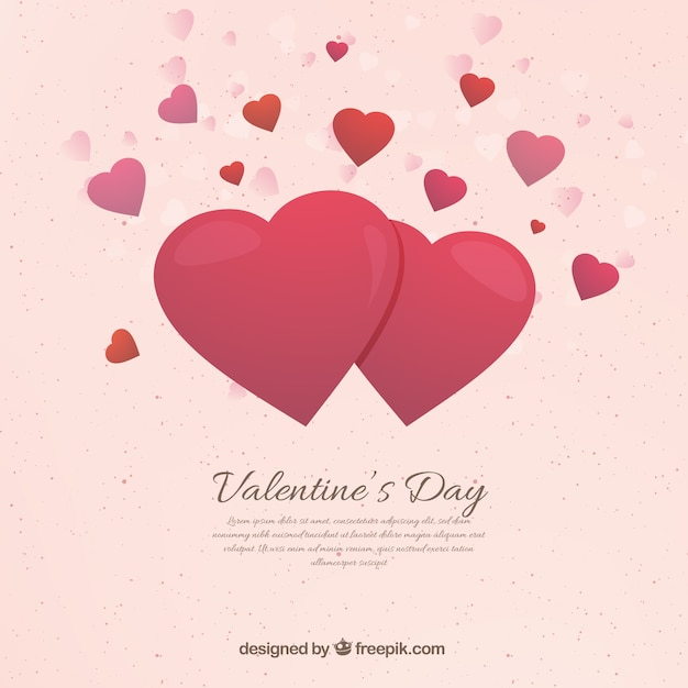 Flat valentine\'s day background Vector | Free Download