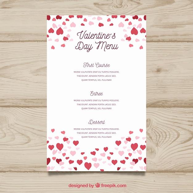 Free Download Flat Valentine S Day Menu