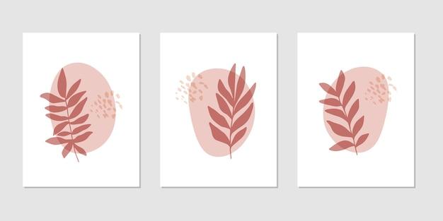 Flat vector botanical illustration set Premium Vector