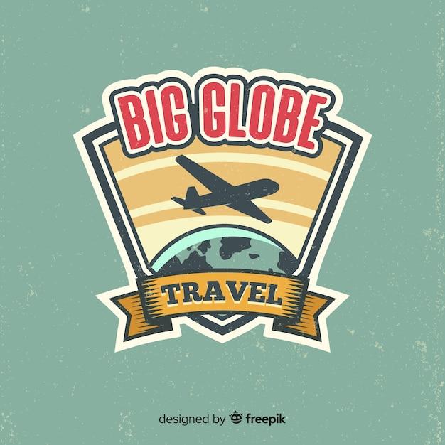 Flat vintage travel logo Free Vector