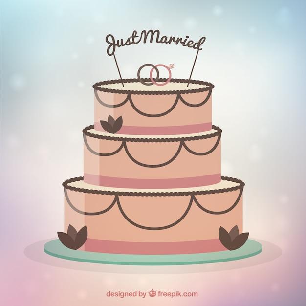 Flat Wedding Cake Vector Free Download